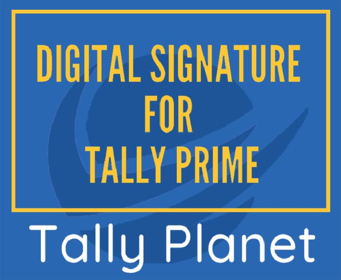 Digital-Signature-for-Tally-Prime
